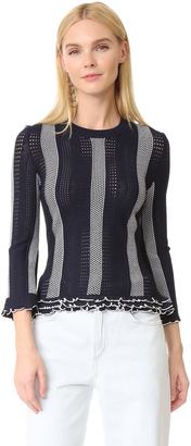 Derek Lam 10 Crosby Ruffle Trim Sweater $375 thestylecure.com