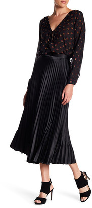 Nicole Miller Sunburst Pleats Midi Skirt $330 thestylecure.com