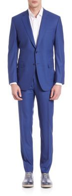 Canali Micro-Striped Wool Suit $1,895 thestylecure.com