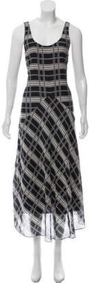 Theory Plaid Maxi Dress