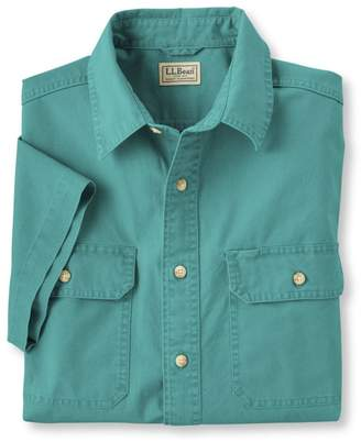 L.L. Bean L.L.Bean Sunwashed Canvas Shirt, Traditional Fit Short-Sleeve