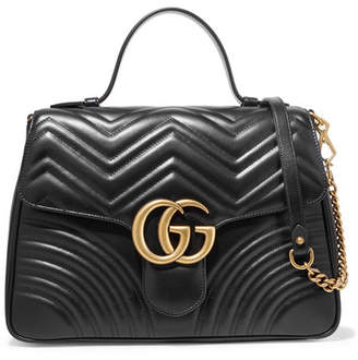 Gucci Gg Marmont Medium Quilted Leather Shoulder Bag - Black