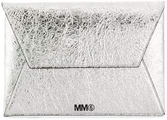 MM6 MAISON MARGIELA logo envelope clutch