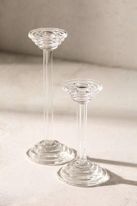 Urban Outfitters Casa Shop For Renewal One-Of-A-Kind Glass Candlestick Holder - Set Of 2