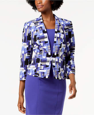 Kasper Printed Collarless Jacket
