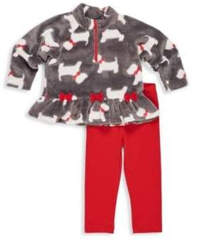 Florence Eiseman Little Girl's Scottie Dog Sweater& Leggings Set