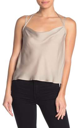 FAVLUX Strappy Cowl Neck Satin Cami
