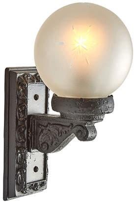 Rejuvenation Worn Entry Light w/ Wheel Cut Globe