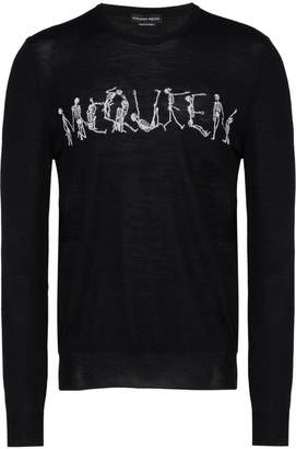 Alexander McQueen dancing skeleton crew-neck sweater