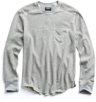 Todd Snyder RICE THERMAL CREW in GREY MIX