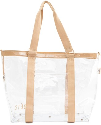 f1785330abce2f Beis Transparent Beach Tote