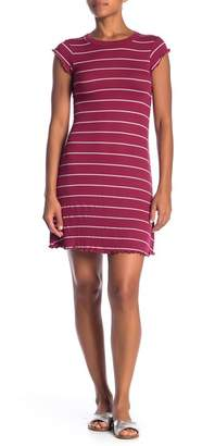 Billabong Right Move Striped Lettuce Trim Dress