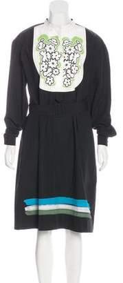 Tomas Maier Printed Midi Dress