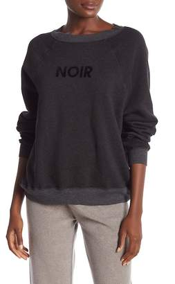 Wildfox Couture Noir Flocked Pullover Sweater