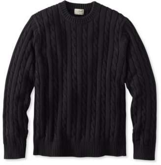 L.L. Bean Double L Cotton Sweater, Cable Crewneck