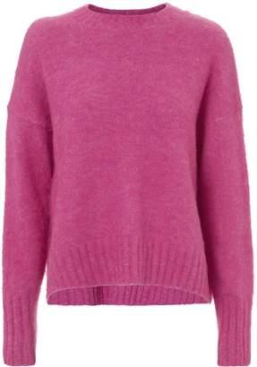 Helmut Lang Brushed Wool Pink Sweater