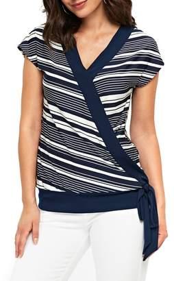 Wallis Ivy Strip Wrap Top