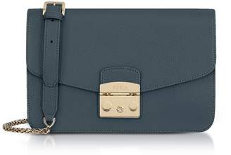 Furla Genuine Leather Metropolis Small Shoulder Bag