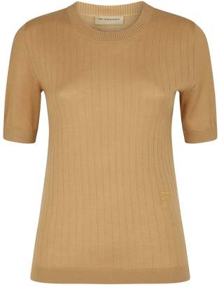Burberry Cashmere Ribbed Knit T-Shirt