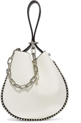 Alexander Wang Roxy Studded Two-tone Textured-leather Bucket Bag - White