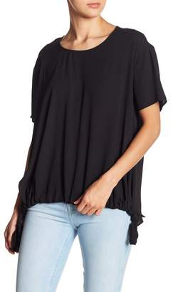 Everleigh Short Sleeve Drawstring Hem Blouse