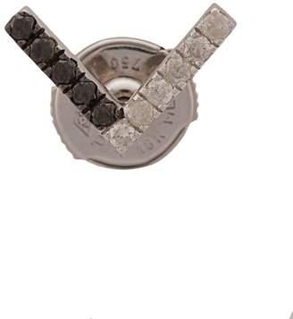 Leon Yvonne 18kt gold and diamond V bar stud earring