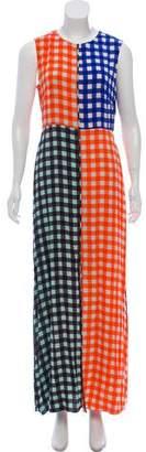 Diane von Furstenberg Gingham Maxi Dress