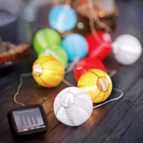 Bunte Solar-Lichterkette Lampion