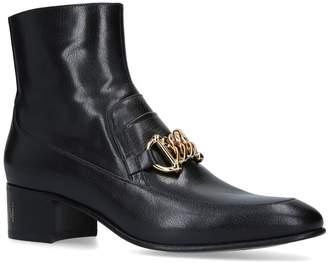 Gucci Chain Horsebit Ebal Boots 45