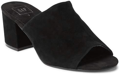 Open-Toe Block Heel Mules