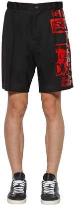 DSQUARED2 Printed Stretch Wool Boxer Shorts