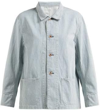 Chimala Striped Cotton Jacket - Womens - Light Denim