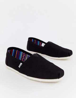 37611441ea7 Toms classic espadrilles in black canvas