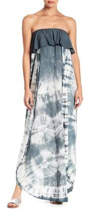 AAKAA Tie Dye Strapless Maxi Dress