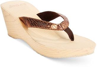 Reef Reefwood II Wedge Thong Sandals $40 thestylecure.com