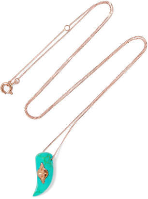 Pascale Monvoisin Belleville 9-karat Rose Gold Turquoise Necklace