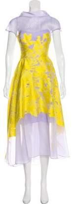 Lela Rose Fil Coupé Evening Dress w/ Tags