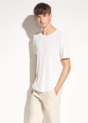 Raw Hem Linen and Cotton Short Sleeve
