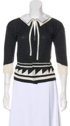 Sacai Collared Wool Cardigan