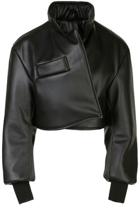 Melitta Baumeister leather look jacket
