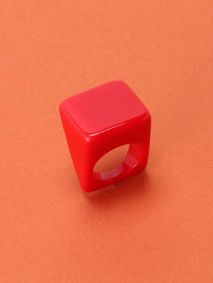 Adia Kibur (アディア キブラ) - BEAMS BOY Adia Kibur / スクエア リング BEAMS BOY ビームス ボーイ レディース ポップ カラフル 指輪 ビームス ウイメン アクセサリー
