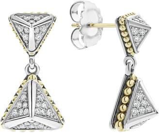 Lagos KSL Lux Double Diamond Pyramid Drop Earrings