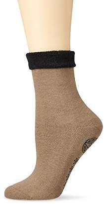 Elbeo Women's Mit Abs-Print DP Socks,6/8 pack of 2