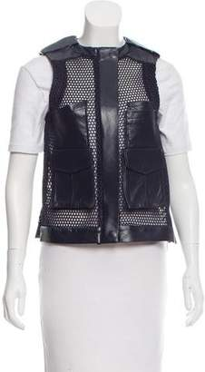Laveer Leather-Accented Mesh Vest