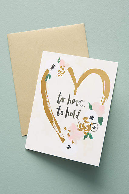 Our Heiday To Have And To Hold Card