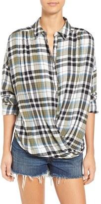 BP. Twist Front Plaid Shirt $48 thestylecure.com