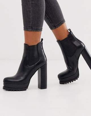 Simmi Shoes Simmi London Aura black chunky platform chelsea boots
