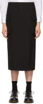 Comme des Garcons Black Wool Two-Pocket Skirt