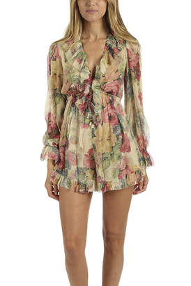 3d9b6fb342 at Blue   Cream · Zimmermann Melody Floating Playsuit