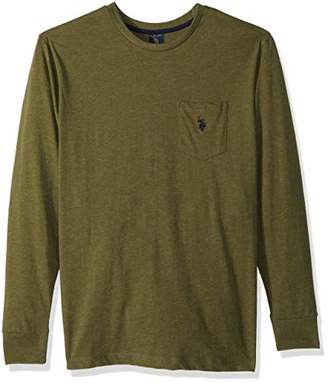 U.S. Polo Assn. Men's Long Sleeve Crew Neck Pocket T-Shirt